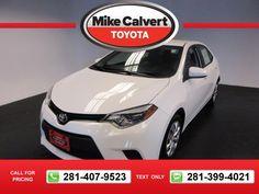 2014 Toyota Corolla S Plus 36k miles $15,180 36548 miles 281-407-9523  #Toyota #Corolla #used #cars #MikeCalvertToyota #Houston #TX #tapcars