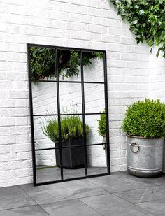 Apr 1 2020 - Indoor Outdoor Fulbrook Black Mirror in or Diy Garden, Indoor Garden, Garden Types, Garden Beds, Garden Sofa Set, Planter Garden, Garden Walls, Garden Wall Art, Garden Shop