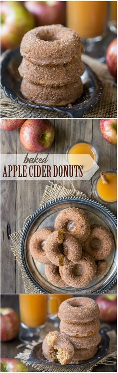 Baked Apple Cider Donuts: off-the-charts apple flavor and a crunchy cinnamon sugar coating. These will give the fried kind a run for their money! - from bakingamoment