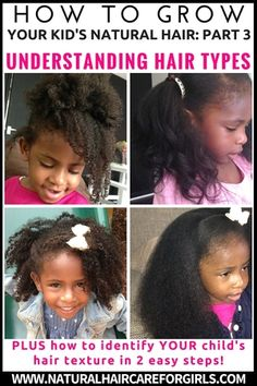 How to grow kid's natural hair for beginners PART 3 Hair Types and how to identify YOUR hair type in 2 easy steps!
