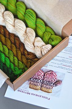 Greens and browns and whites #knit #knitted #yarn #handmade #craft #ravelry