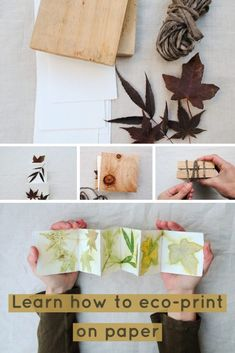 Eco-printing on paper tutorial using autumn leaves and watercolour paper. Step by step instructions. Eco-printing on paper tutorial using autumn leaves and watercolour paper. Step by step instructions. Diy Quilt, Craft Tutorials, Craft Projects, Tinta Natural, Origami, Paper Art, Paper Crafts, Nature Crafts, How To Dye Fabric