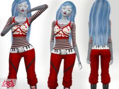 Monster High - Ghoulia yelps Set -  hairstyle,earrings,boots,necklaces, Glasses, outfit  Found in TSR Category 'Sims 4 Sets'