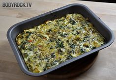 VEGGIE QUICHE  3 handfuls of fresh spinach, 2 tomatoes, 1 medium size leek, 2 cloves of garlic, 1 egg 5 egg whites, about 2 cups of broccoli, olive oil, and salt & pepper. Saute veggies pour eggs over bake at 175 15-20 minutes.  Made for my paleo breakfast this morning!