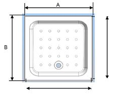 Coram Square Shower Tray with 4 Upstands & Waste - 3 Size Options at Victorian Plumbing UK Square Tray, Bathroom Inspiration, Plumbing, In The Heights, Victorian, Shower, Rain Shower Heads, Showers