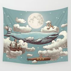 Ocean Meets Sky tapestry by Terry Fan #homedecor #tapestry