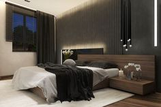 Une chambre en noir très attirante