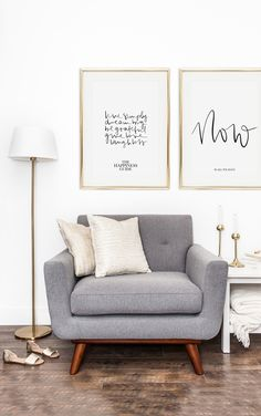 Scandinavian Art Print   Handlettering   Art Gallery   Wall Art   Quotes   The Happiness Guide   Now is all we have   Postershop   Tales by Jen   www.talesbyjen.com