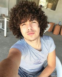 Men with natural afro hair Long Curly Hair Men, Curly Hair Cuts, Afro Hair Men, Natural Afro Hairstyles, Curled Hairstyles, Pelo Afro, Afro Textured Hair, How To Draw Hair, Moustache