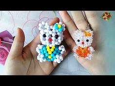 How to bead anime acceceroy: Hello Kitty (Style1) 3/3 - YouTube