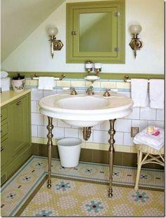 hexagon bathroom tile designs - Google Search