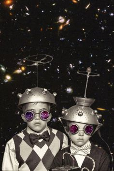 gif ~ HA! Brothers in outer space!