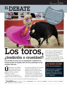 Running of the Bulls (Corrida de Toros) 7th/8th graders' extension activity | One Year in Spanish