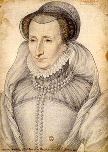 Portrait de Jeanne III de Navarre  au XVIe siècle. Reine de Navarre (mai 1555-juin1572) née Jeanne d'Albret  1528 à Pau, décès 1572 (44 ans) à Paris. Père Henri II de Navarre, mère: Marguerite d'Angoulême. Conjoint: Guillaume de Clèves (1541, annulé), Antoine de Bourbon (1548-1562). Enfants: Henri de Bourbon, Henri IV (roi), Louis-Charles de Bourbon, Catherine de Bourbon. Figure importante du protestantisme, elle s'illustra par sa rigueur et son intransigeance.