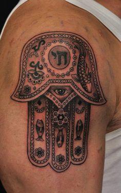 Chronic Ink tattoos, Toronto Tattoo - Hamsa tattoo