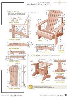Free DIY Adirondack Chair Plans |Build Adirondak Chair Plans by AnneMarie Charlton