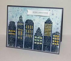 DesignBlock Newspaper Skyline (HA), Teeny Tiny Wishes (SU!) -- my CASE of a beautiful card by Darlene DeVries, darlenedesign.com.