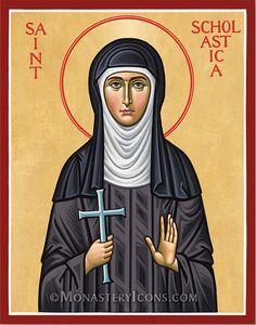 Saint Scholastica from Monastery Icons