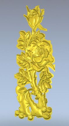 3d model relief  for cnc in STL file format Rose_4
