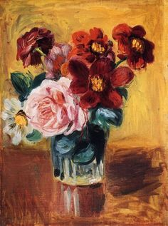 Flowers in a Vase, Pierre Auguste Renoir Love Renoir