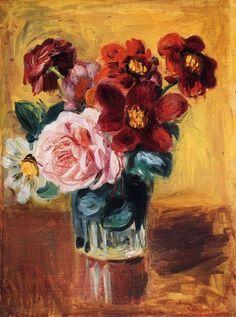 Flowers in a Vase, Pierre Auguste Renoir