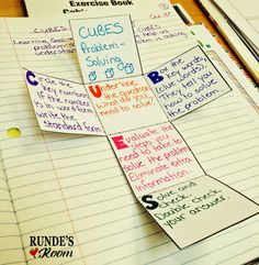 Math Journal Sundays - CUBES Strategy - we use this strategy for every word…