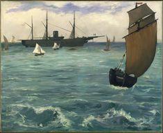 Le Kearsarge à Boulogne (1864) - Dimensioni 81.6 x 100 cm - olio su tela - in esposizione al The Metropolitan Museum of Art di New York