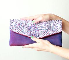 purple peacock envelope clutch :) i love it!