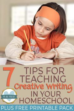 Tips for Teaching Creative Writing in Your Homeschool