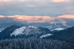 Snow covering the Smoky Mountains