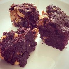 (Peanut butter) Brownies / Erdnuss-)Brownies  - vegan -