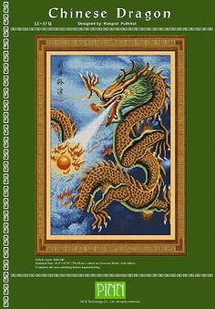 PINN Cross Stitch : Chinese Dragon Chart BookPINN Chart BooksonBest for Feng-Shuicategory