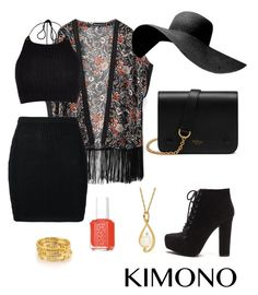 Kimono contest Xx by maariyah347 on Polyvore featuring polyvore, fashion, style, River Island, WithChic, Jeremy Scott, Mulberry, Essie, clothing and kimonos