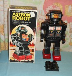 vintage battery-operated ASTRON ROBOT in box