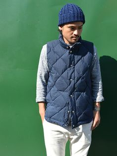 Round Tail Quilted Italian Vest (60/40) (NR別注)