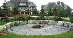 Natural stone landscaping!