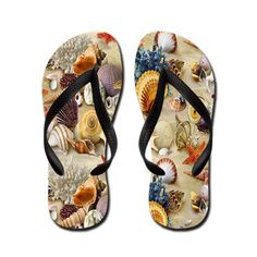 Seashell Shell Flip Flops