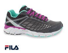 Fila Women's Dashtech Energized Castlerock/Purple Cactus Flower/Cockatoo Athletic Shoe Style # 5SR20099  #uniformadvantage #uascrubs #shoes #nursingshoes