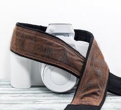 Western Camera Strap dSLR Faux Leather Men or Women Quick by ten8e