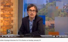 2017 Jan Julian Assange Interview for ITV's Peston on Sunday January 29 January 29, Interview, Presentation, Sunday, Domingo