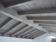 Pine Tongue And Groove Porch Ceiling In A Dusty Gray Stain