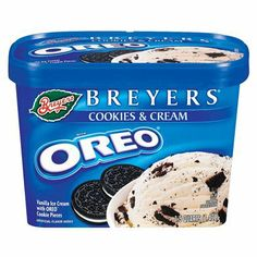 Breyers Blasts Oreo Cookies and Cream Frozen Dairy Dessert - Oreo Cupcakes, Oreo Cookies, Bolo Hello Kitty, Chips Ahoy Cookies, Bad Room Ideas, Cheesecake Ice Cream, Bff Birthday Gift, Candy Brands, Hot Pockets
