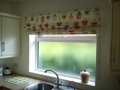Fun blind by Interior Needs Uk using our Cupcakes fabric in colourway Vanilla Prestigious Textiles, Valance Curtains, Blinds, Vanilla, Upholstery, Cupcakes, Interior, Projects, Fabric