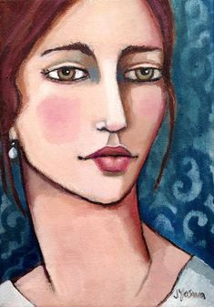Woman With Auburn Hair by Jennifer Yoswa