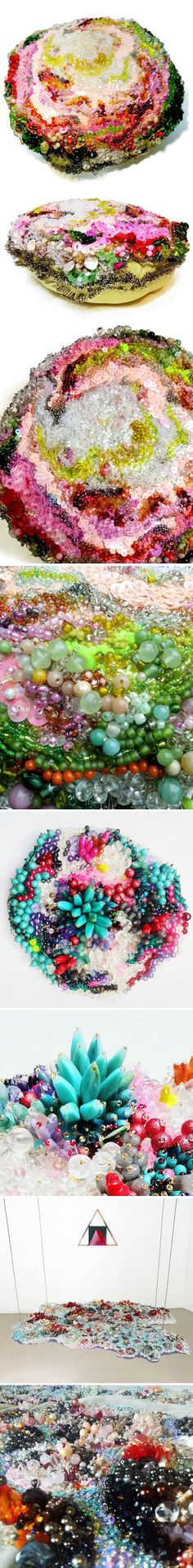bead and sequin covered sculpture by louise meuwissen <3 !!!