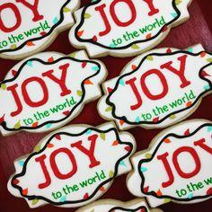 These joyful cookies will be available THIS Saturday at the #bradfordfarmersmarket! #sweethandmadecookies #customcookies #decoratedcookies #designercookies #cookies #bradfordontariocookies #christmascookies #joytotheworld #joytotheworldcookies