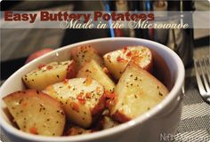 How to Make Easy Delicious Buttery Potatoes... in the Microwave in just 10 minutes! #3SI #spon