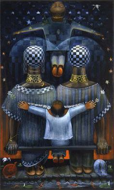 John Biggers, The House My Father Built (1983)