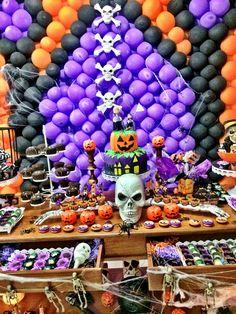 mesa festa tema Halloween