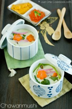 Chawanmushi (Savory Steamed Egg Custard) | Easy Japanese Recipes at JustOneCookbook.com